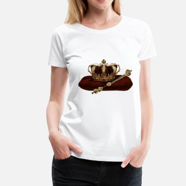 Scepter Crown og scepter - Dame premium T-shirt