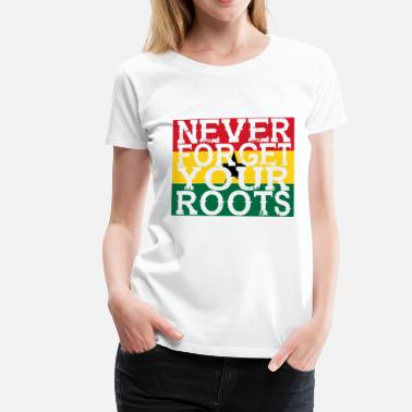 Ghana never forget roots home Ghana - Women's Premium T-Shirt