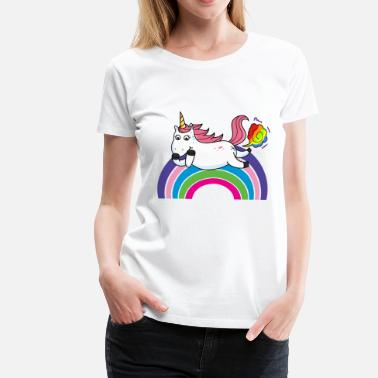 Fart Rainbow Farting unicorn rainbow - Women's Premium T-Shirt