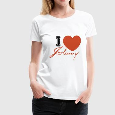 I love johnny - johnny hallyday t-shirt - Women's Premium T-Shirt