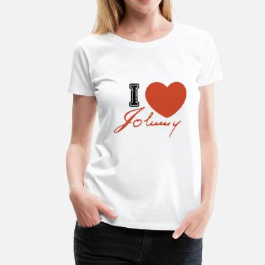 Johnny Orlando I love johnny - johnny hallyday t-shirt - Women's Premium T-Shirt
