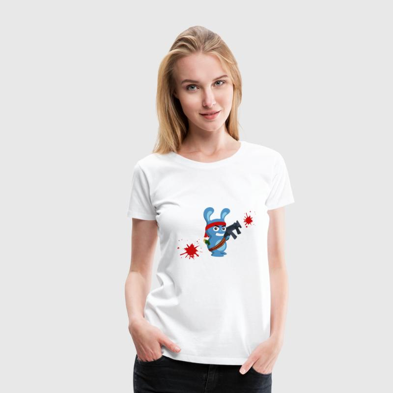 Submachine Rabbit - Dame premium T-shirt