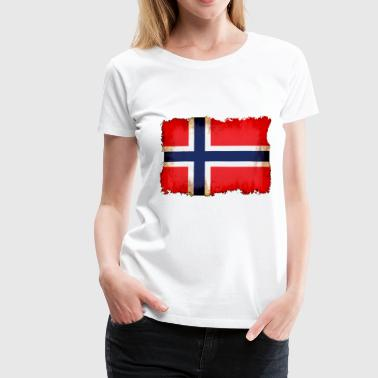 Norway flag - Premium T-skjorte for kvinner