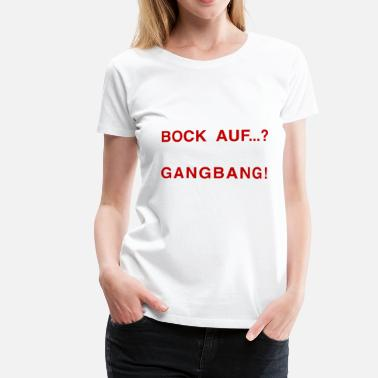 Gang Bang Bock sur ...? GANG BANG ROUGE - T-shirt Premium Femme