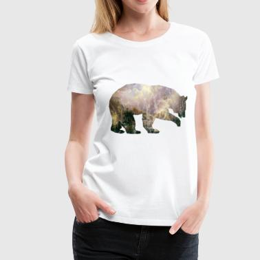Bear Mountains Nature Used Look - Camiseta premium mujer