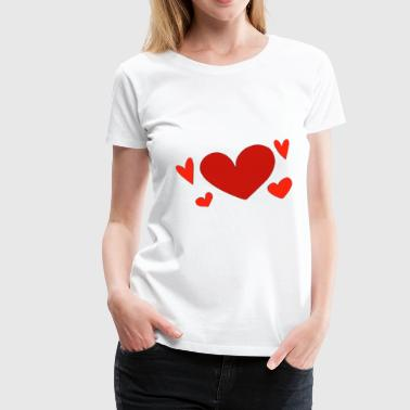 Big Five Five hearts - Women's Premium T-Shirt