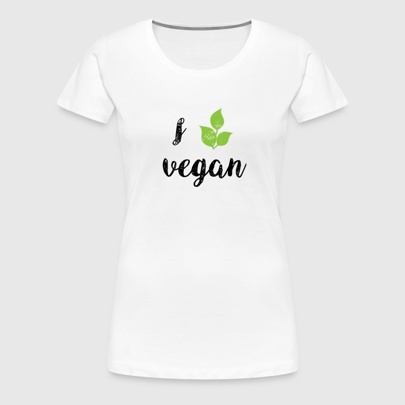 I Love Vegan - Frauen Premium T-Shirt