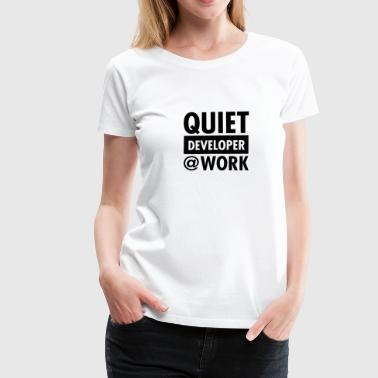 Cto Quiet, Developer At Work - Women's Premium T-Shirt