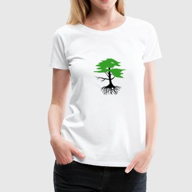 Tree with roots, 2 colors - Women's Premium T-Shirt