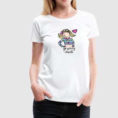 Groovy 'groovy chick' - Faded - Women's Premium T-Shirt