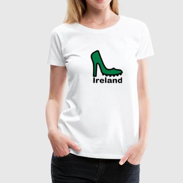 Ireland Fan Ireland Lady football fan 2clr - Women's Premium T-Shirt
