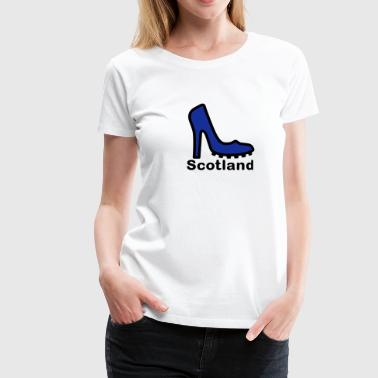 Scotland Lady football fan 2clr - Women's Premium T-Shirt
