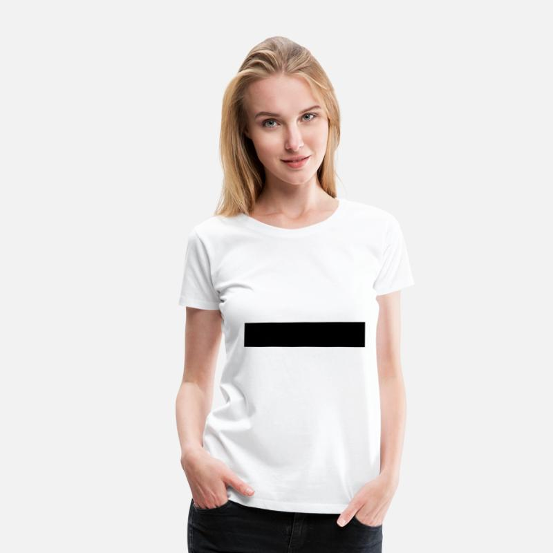 Bar T-Shirts - Censorship censored 1c black bar - Women's Premium T-Shirt white