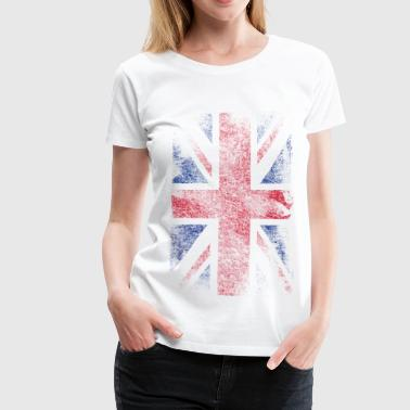 Britse union jack - used look - Vrouwen Premium T-shirt