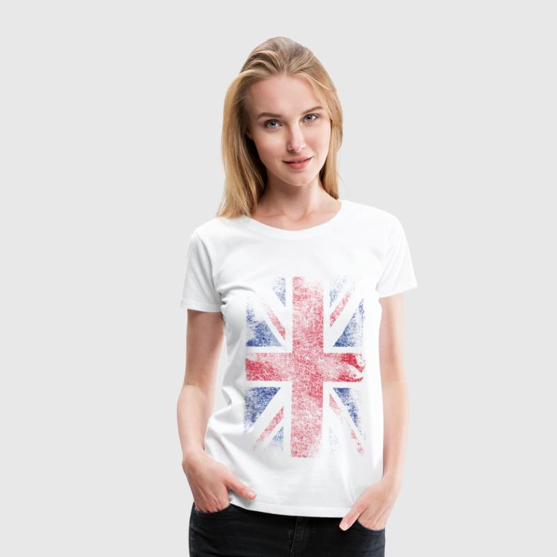 union jack - used look - Frauen Premium T-Shirt