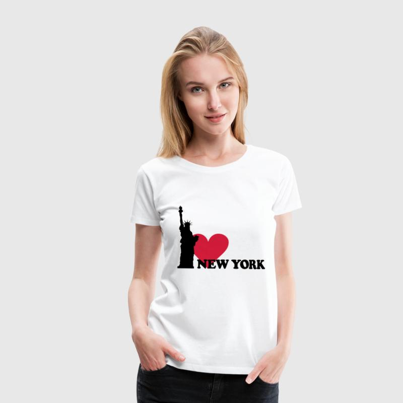 I love New York - NY - Women's Premium T-Shirt