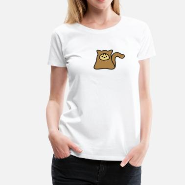 Schwänze Klein Little Kitteh waving her tail - Frauen Premium T-Shirt