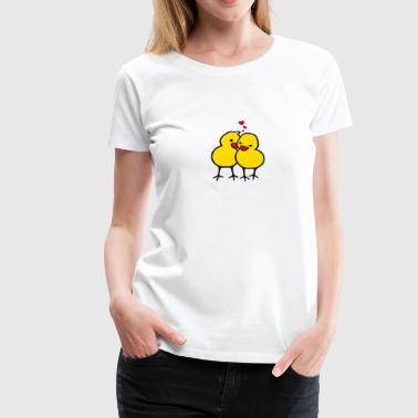 Poussin chicks in love (b) - T-shirt Premium Femme