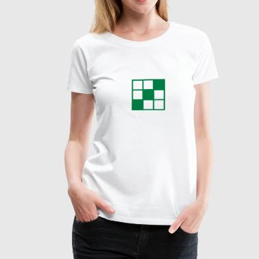 noughts and crosses grid background element - Women's Premium T-Shirt
