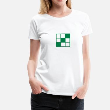Noughts noughts and crosses grid background element - Women's Premium T-Shirt