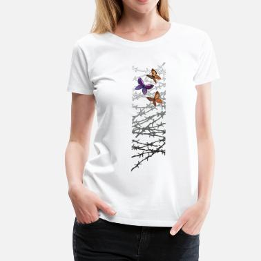 Wired Barbed wire - Women's Premium T-Shirt