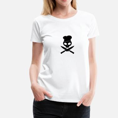 Smutje kitchen skull pirate, smutje - Camiseta premium mujer