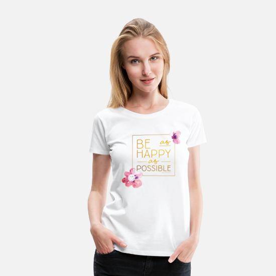 Officialbrands T-Shirts - SmileyWorld Be Happy - Women's Premium T-Shirt white