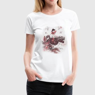 Thelwell - Pony outside in nature - Dame premium T-shirt