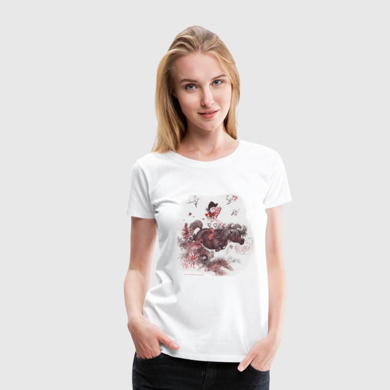 Thelwell - Pony outside in nature - Women's Premium T-Shirt