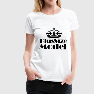 Plus-size model - Women's Premium T-Shirt