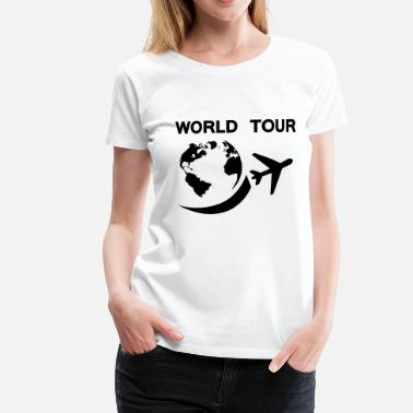 Sight Seeing worldtour - Dame premium T-shirt