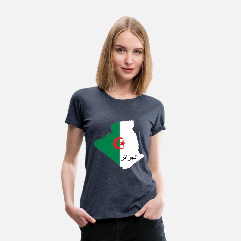 133bcb66de7 Algérie avec écriture Arabe T-shirt premium Femme