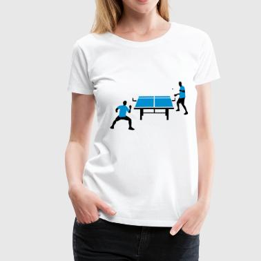 table_tennis_052012_d_2c - Frauen Premium T-Shirt