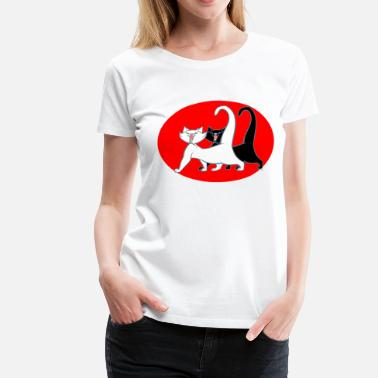 Cartoons Online Two Singing Cartoon Cats by Cheerful Madness!! online shop - Women's Premium T-Shirt