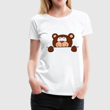 Bär Comic Teddy - Frauen Premium T-Shirt