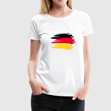 Germany smudge flag - T-shirt Premium Femme