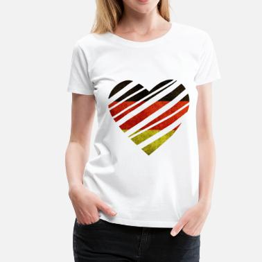 Germany Heart - Vrouwen Premium T-shirt