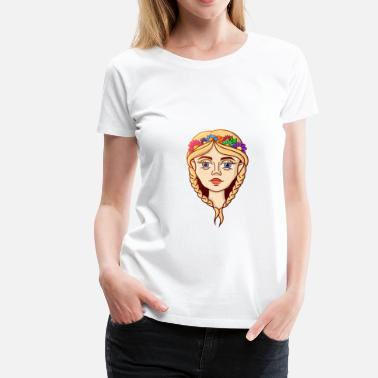 Summer lovely girl - Women's Premium T-Shirt