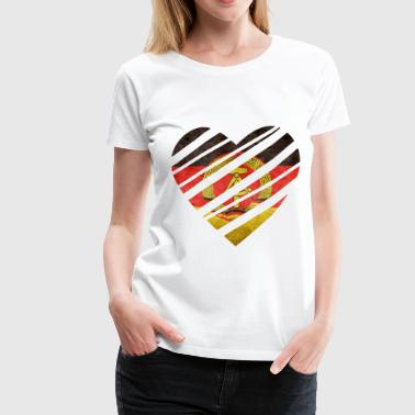East Germany Heart - Frauen Premium T-Shirt