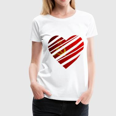 Soviet Union Heart - Women's Premium T-Shirt