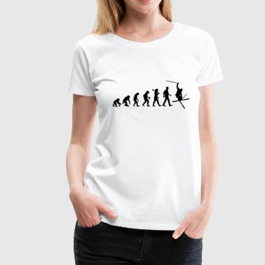 Evolution of Skiing - Frauen Premium T-Shirt