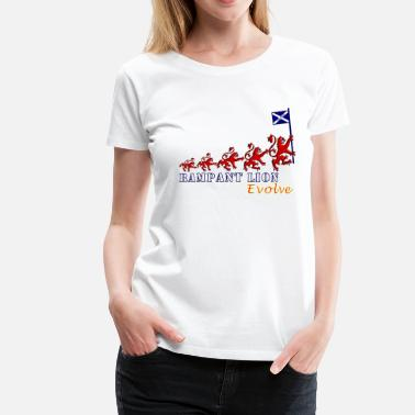 Lion Rampant Designs Rampant Lion Evolution Scotland - Women's Premium T-Shirt