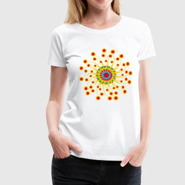 Braindesign flower power 04 - Frauen Premium T-Shirt