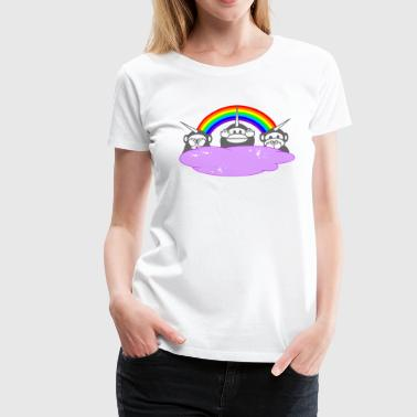 Vêtement Singe singes Unicorn - T-shirt Premium Femme