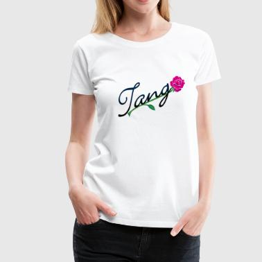 Tanze Erotisch tango with rose (DDP) - Frauen Premium T-Shirt