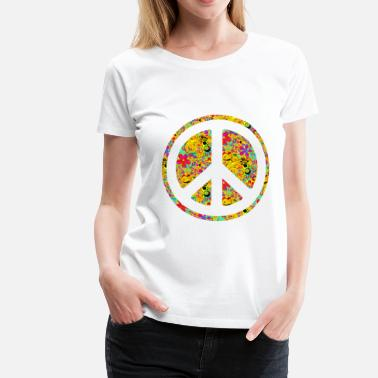 Flower Power Flower Power Peace 1 - Frauen Premium T-Shirt