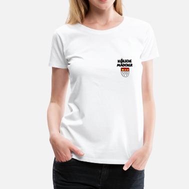 ae99b2a8e4c859 Kölsche Mädcher mit Kölner Wappen Köln Design - Frauen Premium T-Shirt