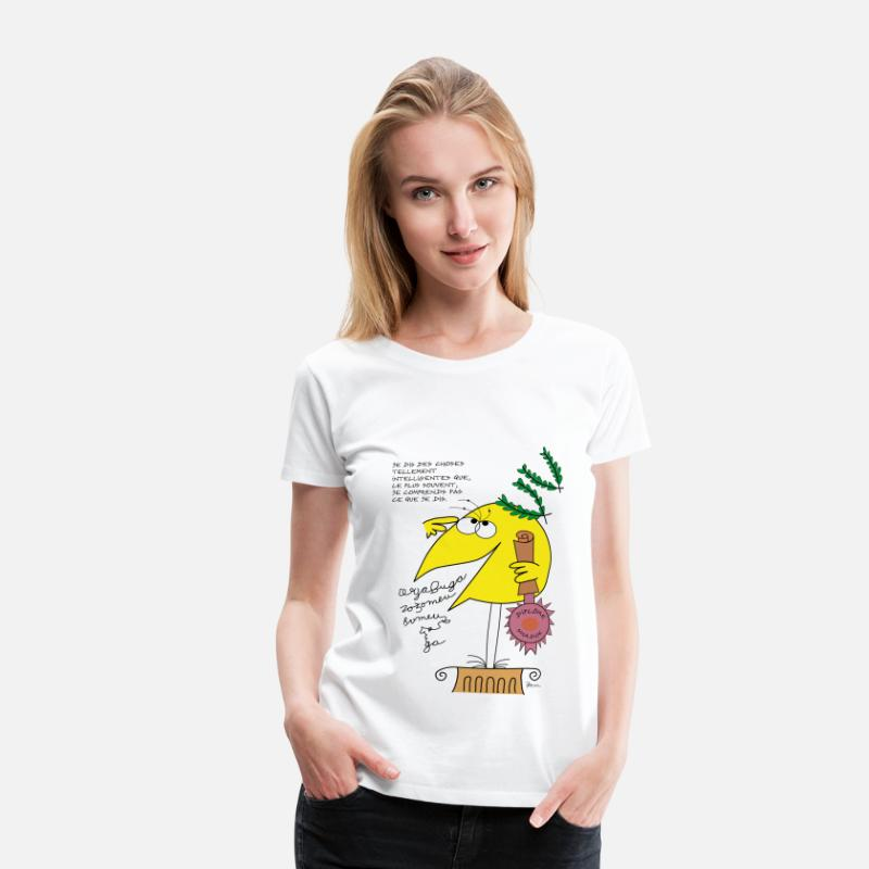Shadoks T-shirts - Intelligence Shadok - T-shirt premium Femme blanc