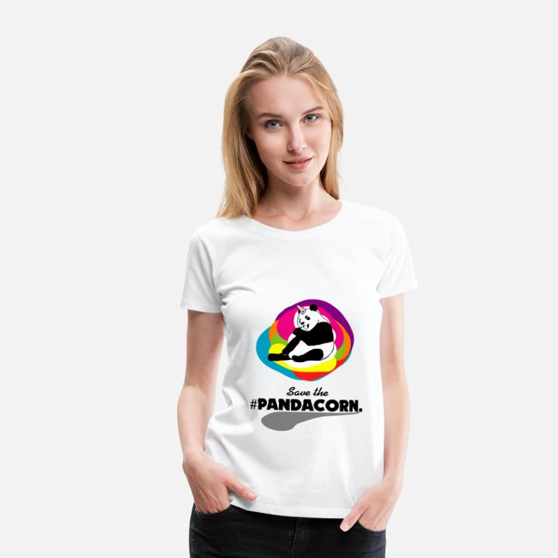 Bicycle T-Shirts - PANDICORN PANDACORN - Women's Premium T-Shirt white