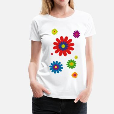 Blume flower power 03 - Frauen Premium T-Shirt